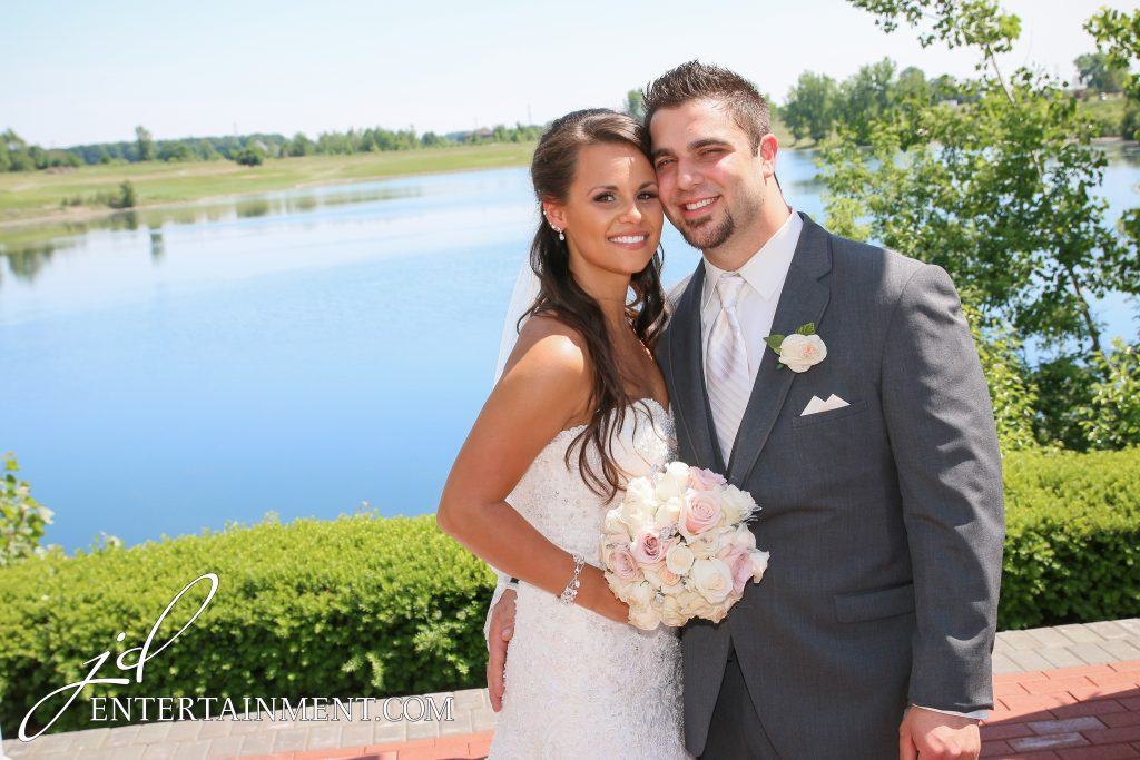 Outdoor michigan scenic wedding ceremony
